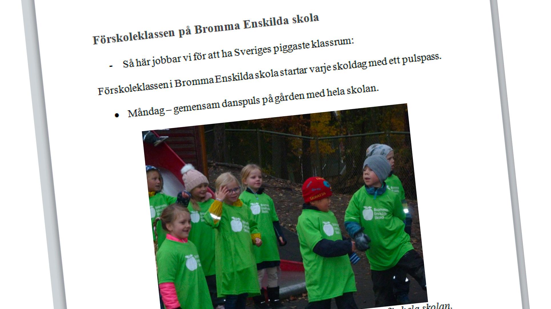 ActiveS - Sveriges Piggaste Klassrum - Bromma Enskilda Skola FSK, Stockholm