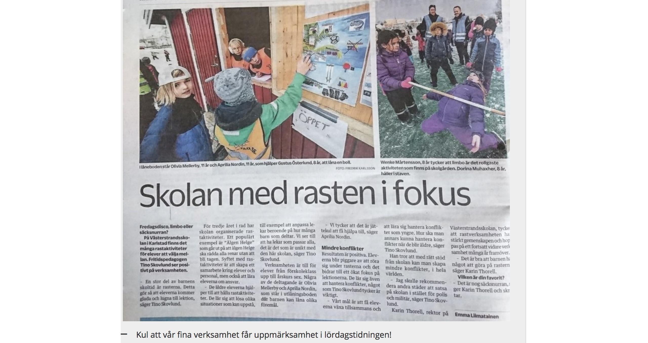 ActiveS Sveriges piggaste klassrum - Västerstrandsskolan Karlstad